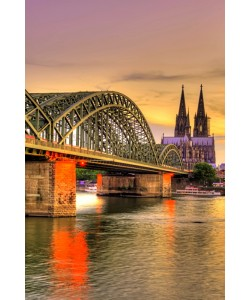 Hady Khandani, HDR - COLOGNE CATHEDRAL AND HOHENZOLLERN BRIDGE DURING SUNSET - GERMANY 8