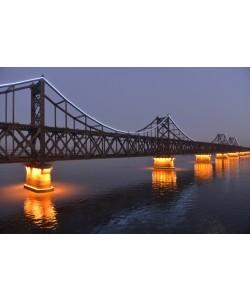Hady Khandani, ILLUMINATED SINO-KOREAN FRIENDSHIP BRIDGE OVER YALU RIVER BETWEEN CHINA AND NORTH KOREA - DANDONG 1