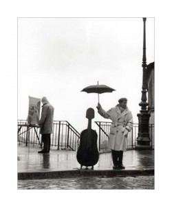 Robert Doisneau, Ein Musiker im Regen