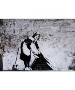 Banksy, Graffiti Sweeping Under Wall