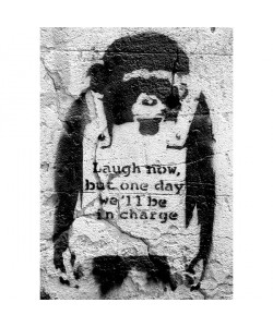 Banksy, Affe Laugh now, but one day we'll be in charge