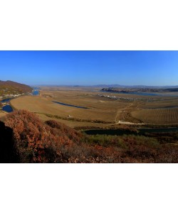 Hady Khandani, PANO - VIEW FROM TIGER MOUNTAIN TOWARDS NORTH KOREA - NEAR DANDOND - CHINA 1