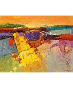 Leinwandbild Madjid - Lavendelfeld