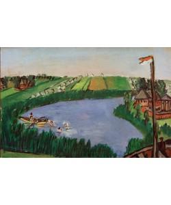 Max Beckmann, Holländische Landschaft mit Badenden