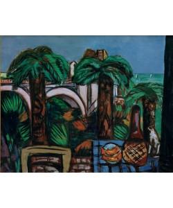 Max Beckmann, Landschaft mit drei Palmen. Beaulieu