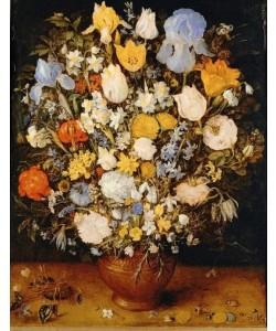 Jan Brueghel der Ältere, Kleiner Blumenstrauß in einem Tongefäß