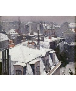 Gustave Caillebotte, Vue de toits (Effet de neige), dit Toits sous la neige