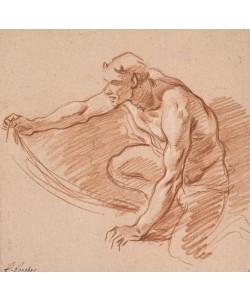 Francois Boucher, Satyre tenant une draperie
