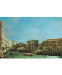 Giovanni Antonio Canaletto, Die Rialto-Brücke von Norden