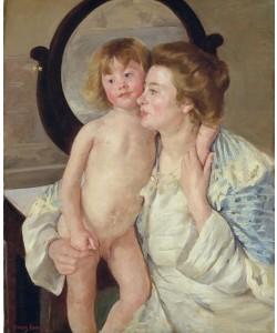 Mary Cassatt, Mutter und Kind (Der ovale Spiegel)