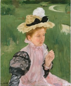 Mary Cassatt, Portrait eines jungen Mädchens