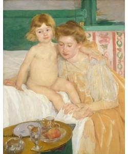 Mary Cassatt, Mutter und Kind (Baby wacht von seinem Nickerchen auf)