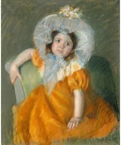 Mary Cassatt, Margot in Orange Dress