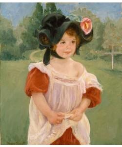 Mary Cassatt, Frühling: Margot steht in einem Garten (Fillette dans un jardin)