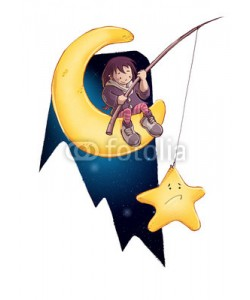 cirodelia, niña pescando una estrella