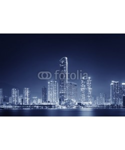 leeyiutung, Skyline of Hong Kong City at night