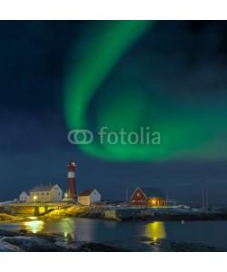 Blickfang, Nordlicht in  Norwegen Hamaroy Leuchtturm
