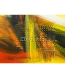 Artlu, Abstract art background, yellow texture. Hand drawn acrylic pain