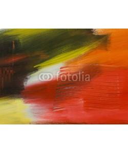 Artlu, Abstract art background. Hand drawn acrylic painting.