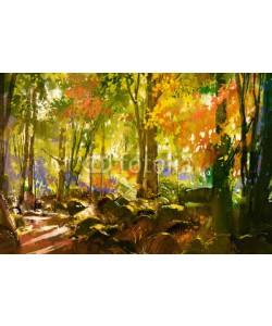 Leinwandbild, grandfailure, bright forest...., gespiegelt