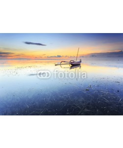 farizun amrod, Balinese jukung fishermen with beautiful sunrise in Bali, Indonesia