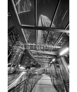 leeyiutung, Financial district of Hong Kong city at night