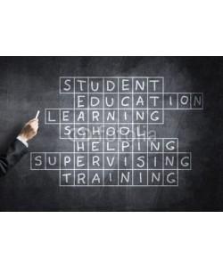 adam121, Seminar trainer draw on chalkboard