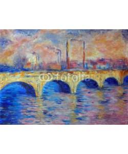 shvets_tetiana, Original oil painting on canvas - London Bridge in impressionism style