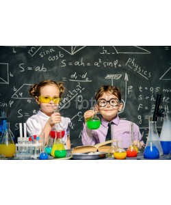 Andrey Kiselev, two little scientists