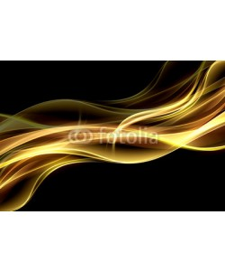 SidorArt, Abstract  fire background flowing effect lighting. Gold blurred color waves design. Glowing neon for your creative projects.