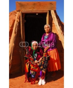 David Smith, Elderly Navajo woman with her daughter