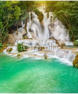 Olga Khoroshunova, Tat Kuang Si Waterfalls. Beautiful landscape. Laos.