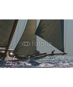 Christophe Baudot, bateau à voile en mer