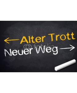 stockWERK, Kreidetafel mit Alter Trott und Neuer Weg