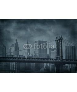 javarman, vintage grunge image of new york city