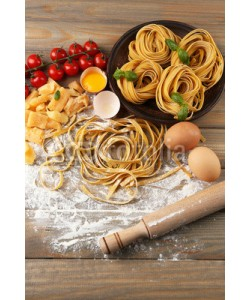 Africa Studio, Still life with raw homemade pasta and ingredients for pasta