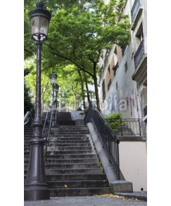 emmanuelcaro3, Typical Montmartre staircase in Paris, France