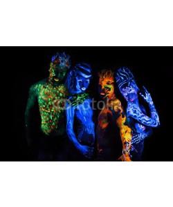 Andrey_Arkusha, Body art glowing in ultraviolet light