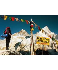 Daniel Prudek, view of Everest - way to Everest Base Camp - Nepal