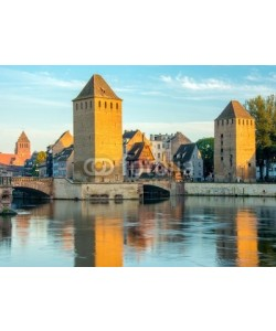 Alexi TAUZIN, Ponts Couverts à Strasbourg au crépuscule