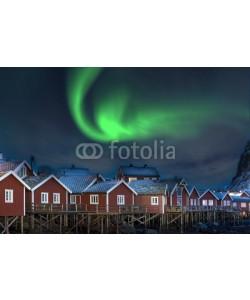 Blickfang, Nordlicht in Reine Lofoten Norwegen
