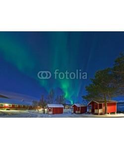 Blickfang, Nordlicht in  Norwegen Campinghütten