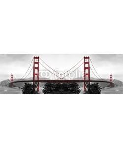 diak, Golden Gate Bridge Red Pop on B&W