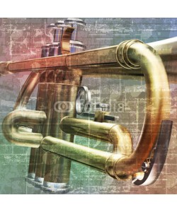 lembit, abstract grunge background with trumpet