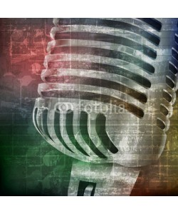 lembit, abstract grunge background with microphone