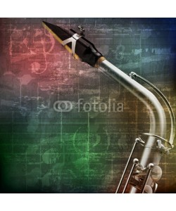 lembit, abstract grunge background with saxophone