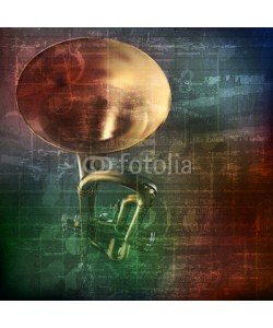 lembit, abstract grunge sound background with trumpet