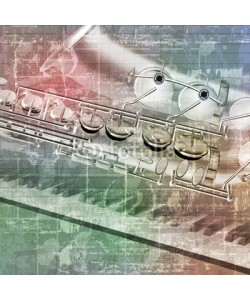lembit, abstract grunge background with saxophone and piano keys