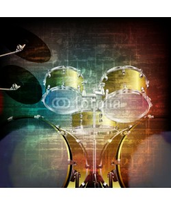lembit, abstract grunge background with drum kit