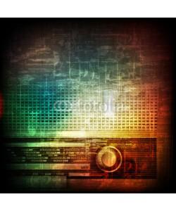 lembit, abstract grunge background with retro radio